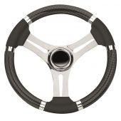 Τιμόνι με Inox Ακτίνες & Λαβές Ξύλου 03544