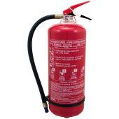 Πυροσβεστήρας 6Kg βάση - μαργαρίτα, ABC 40%, με κλείστρο με βαλβίδα ασφαλείας.