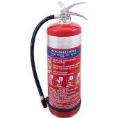 Πυροσβεστήρας 6Kg, ξηράς σκόνης ABC 40%, δοχείο ανοξείδωτο και κλείστρο ανοξείδωτο.