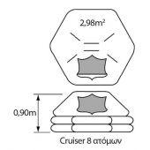 Liferaft Cruiser Plastimo 8 Ατόμων