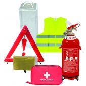 Σετ Πυροσβεστήρας 2Kg ΣΚΟΝΗΣ ABC 40% - Τρίγωνο απλό - Φαρμακείο πιστοποιημένο - Γιλέκο - Θερμική Κουβέρτα