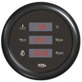 Πολυοργανο δεικτης θερμοκρ. νερου/ δεικτης πιεσης λαδιοy /στροφομετρο μαυρο 04526