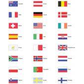 Σημαιες διαφορων κρατων τετραγωνες 02617