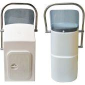 Κονσολα οβαλ 35x30x65 με παπριζ & inox roll bar 00132