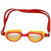 Γυαλιά Πισίνας Με Pc Φακούς, Πλαίσιο & Λουρί Σιλικόνης Κόκκινο/Κίτρινο Fortis 274-1924