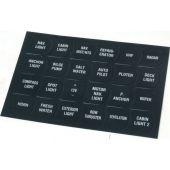 Αυτοκόλλητες ετικέτες για πίνακες ελέγχου (24 τμχ) 70589