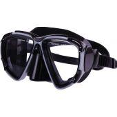 Μάσκα σιλικόνης με ξεχωριστούς φακούς μαύρη 98791