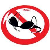 Αυτοκόλλητο Σιλικόνης 80mm 'Απαγορεύεται ο στηθόδεσμος' 95760