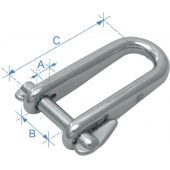Kλειδί Τύπου D Μακρύ με Πείρο Ασφαλείας Inox 316 90436