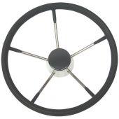 Τιμόνι, ανοξείδωτο με μαύρη επένδυση 99701