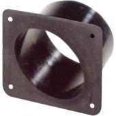 Σύνδεσμοι Αεραγωγού, PVC, Ευθύς, Μαύρος 50155