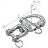Μουσκέτο Snap Shackle με στριφτάρι & κλειδί με πείρο, χυτό, Inox 316 90439