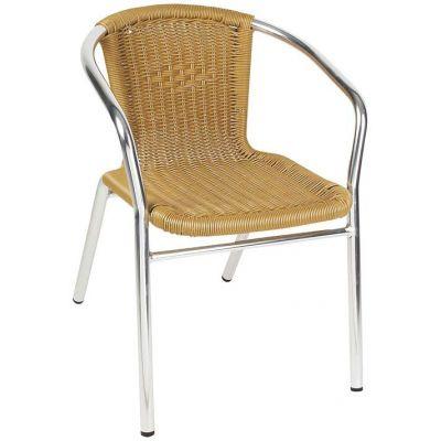Καρέκλα Αλουμινίου με Συνθετικό Rattan ESCAPE 15603