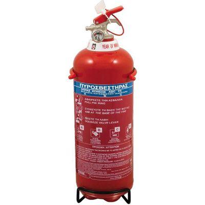 Πυροσβεστήρας 1Kg, ξηράς σκόνης ABC 40%. Περιλαμβάνεται βάση. Exclusive