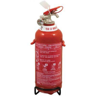 Πυροσβεστήρας 1Kg, ξηράς σκόνης ABC 40%. Περιλαμβάνεται βάση.